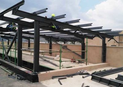 Onsite Structural Steel Installation