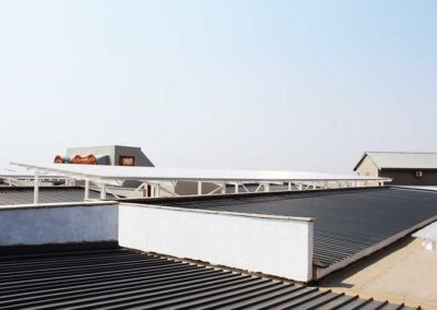 Structural Steel Roof Installed