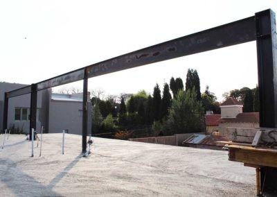 Top floor structural steel